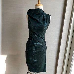 Lanvin Green Palm Leaf Printed Dress